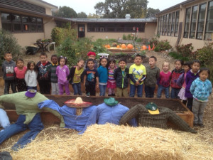 Children at Steele Lane School enjoy their time in the School Garden.