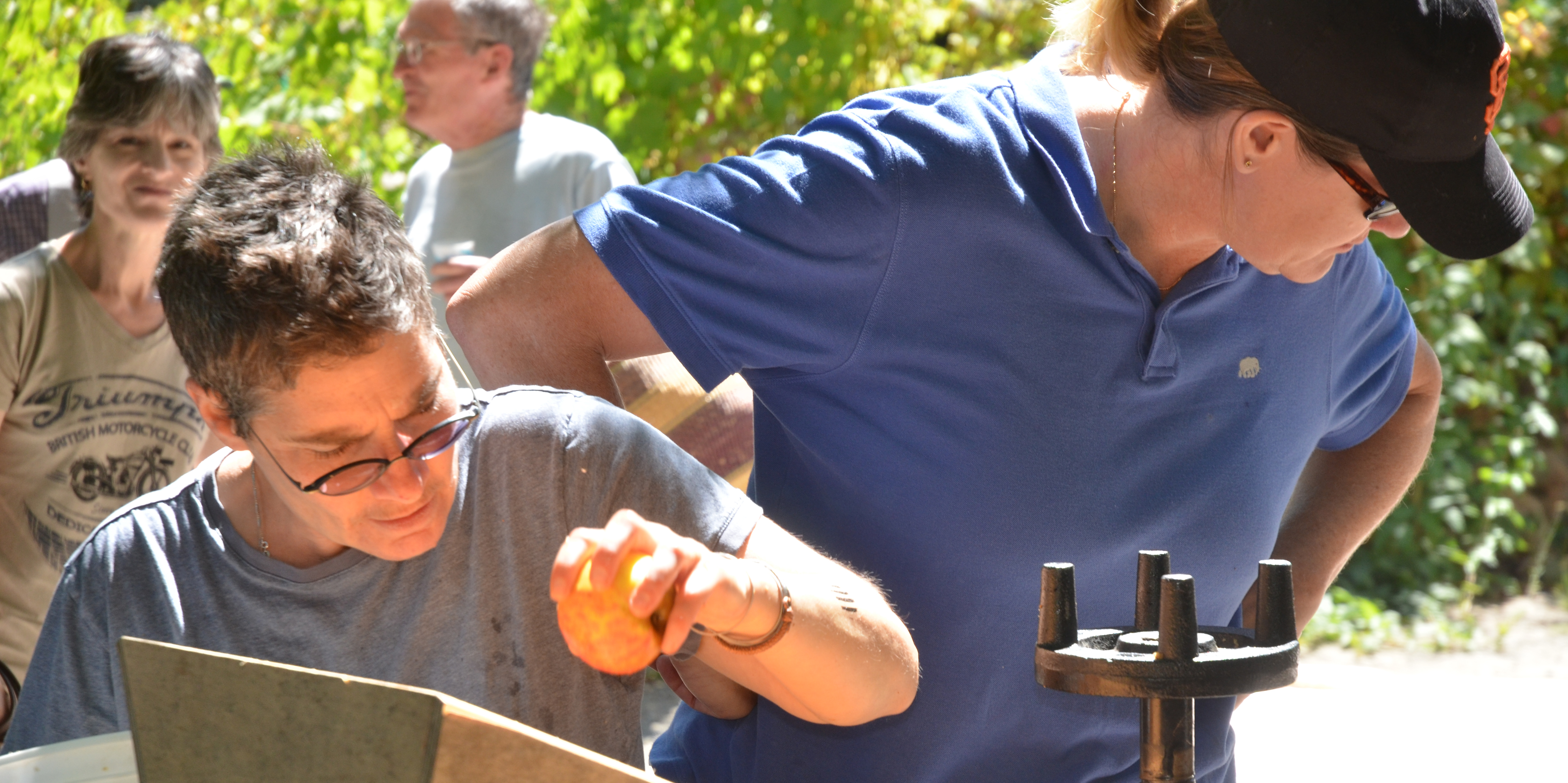 Working together at the Free Community Apple Press