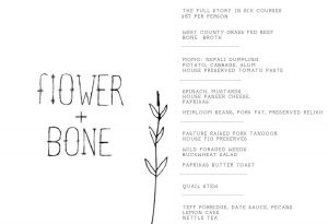 Flower + Bone – Menu