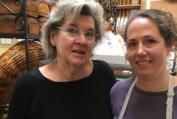 Healdsburg Downtown Bakery – On the left, Kathleen Stewart, proprietor, with Anna Mancuso Tarlton, the pastry chef